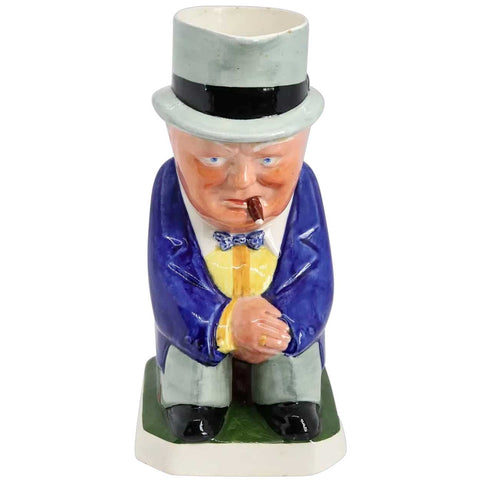 Rare Vintage English Eric Olsen for Copeland Spode Porcelain Sir Winston Churchill Toby Jug