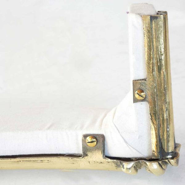 Pair of French Rococo Revival Brass Curtain Valances