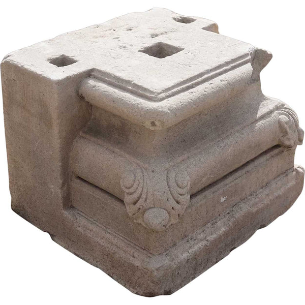 Indian Limestone Architectural Pilaster Column Base