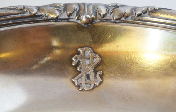 French Gustave Keller Boettcher Estate Gilt Silver Crumber / Butler's Crumb Tray