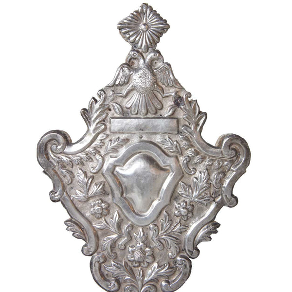 Pair of Indo-Portuguese Baroque Style Silver over Teak Reliquaries