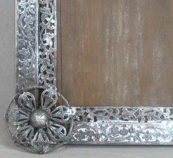 Small Indo-Portuguese Silver Mounted Frame