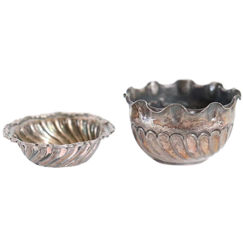 Two Small English Victorian Sterling Silver Bowls