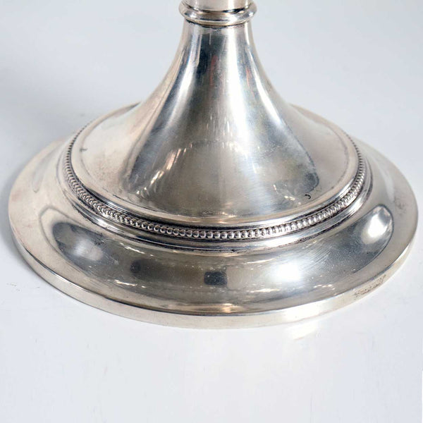 Large Dutch Silver and Cut Glass Tazza