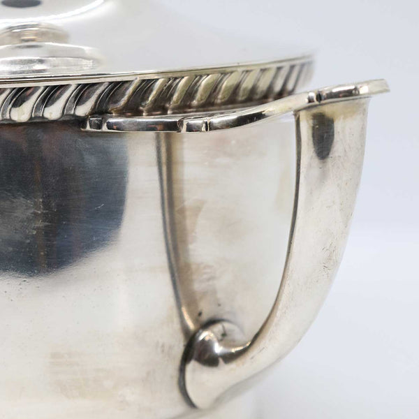 American Charles Casper Silverplate Covered Porringer Bowl