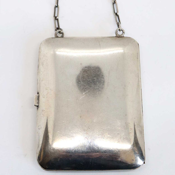 American Clarence A. Vanderbilt Sterling Silver Calling Card Case / Purse on Chain