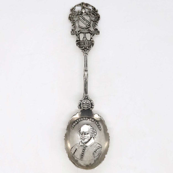 English G & C Sterling Silver William Shakespeare Souvenir Spoon