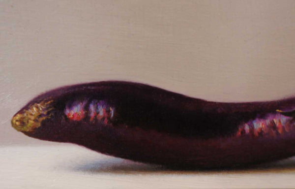 SCOTT FRASER Painting, Still Life of an Eggplant