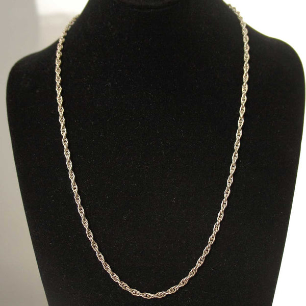 Vintage Sterling Silver Twisted Rope Necklace