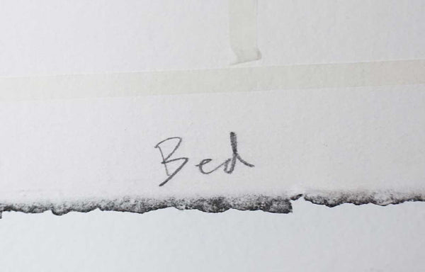 HOLLY GENEVIEVE KOZLOWSKI Photocollograph on Paper, Dissolving Bed II, 1/3