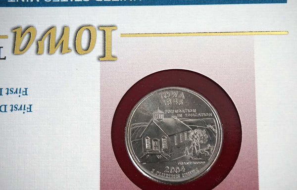 Set of Two American Commemorative Iowa State Quarter Dollars