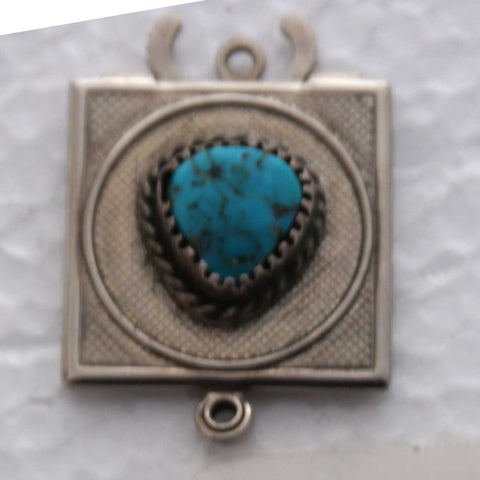 Silver and Turquoise Jewelry Clasp