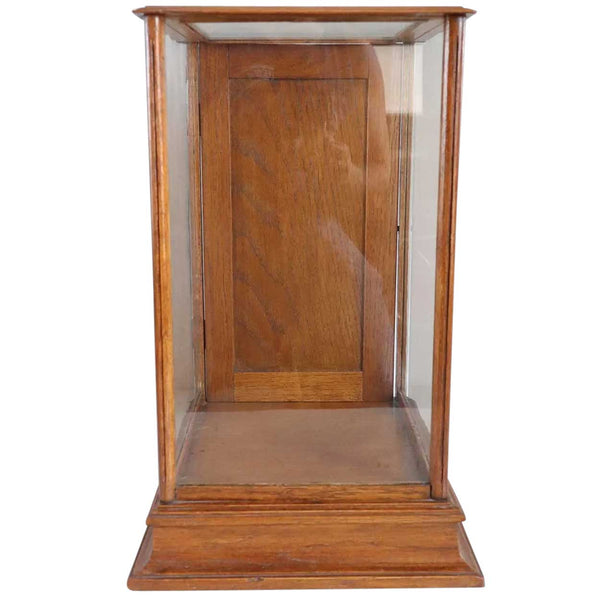 Small American Oak and Glass Table-Top Display Case