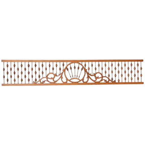 American Victorian Pitch Pine, Stick and Ball Gingerbread Architectural Fretwork Transom Panel