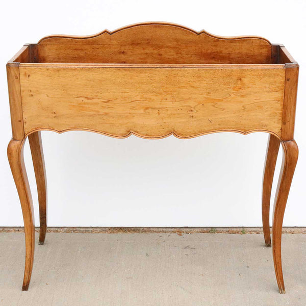 French Provincial Pale Walnut (Noyer Blond) Zinc Lined Wine Cooler Stand