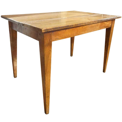 Small French Provincial Walnut Plank Farm Table