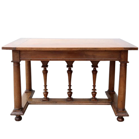 French Henri II Style Walnut Center Table