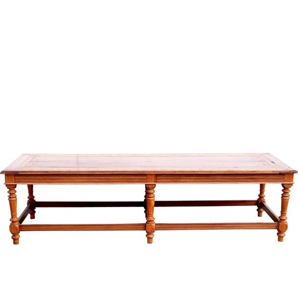 Large Indo-Portuguese Inlaid Satinwood Low Table / Bench