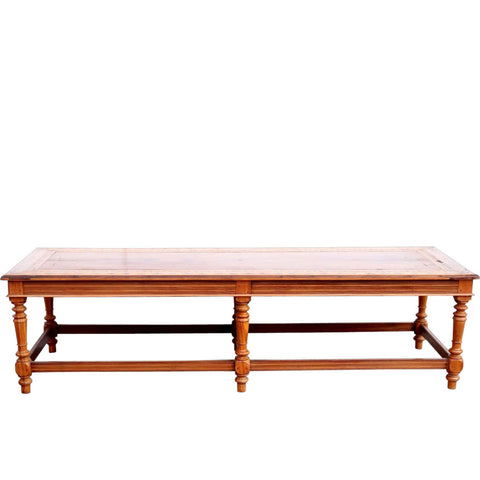 Indo-Portuguese Inlaid Satinwood Low Table / Bench