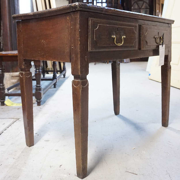 Portuguese Chestnut Two-Drawer Side Table