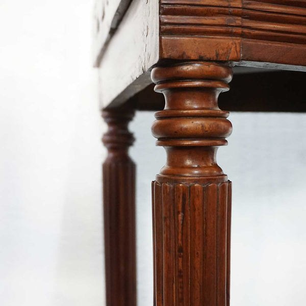 Pair of Indo-Portuguese Mahogany Corner Gallery Tables