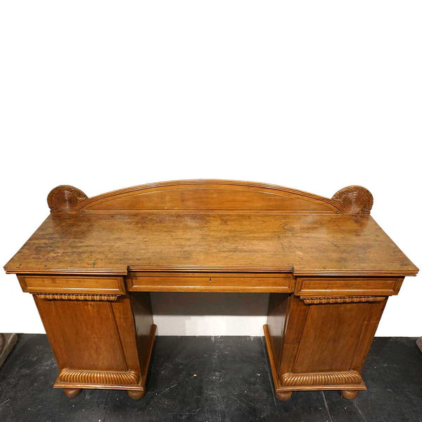 Anglo Indian William IV Mahogany Pedestal Sideboard