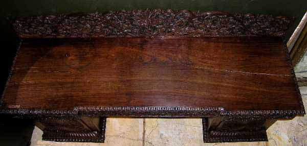 Anglo Indian Rosewood Pedestal Sideboard