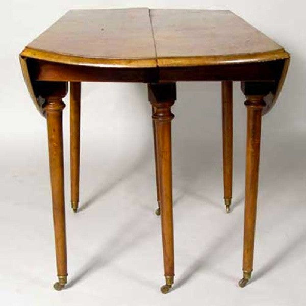 Attirant French Provincial Directoire Period Walnut Drop Leaf Table
