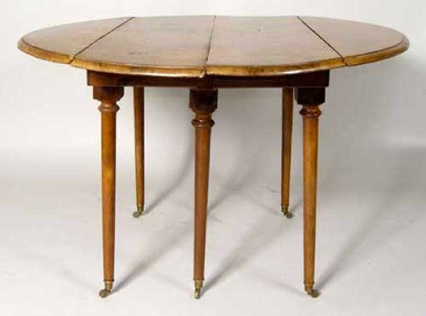 French Provincial Directoire Period Walnut Drop Leaf Table