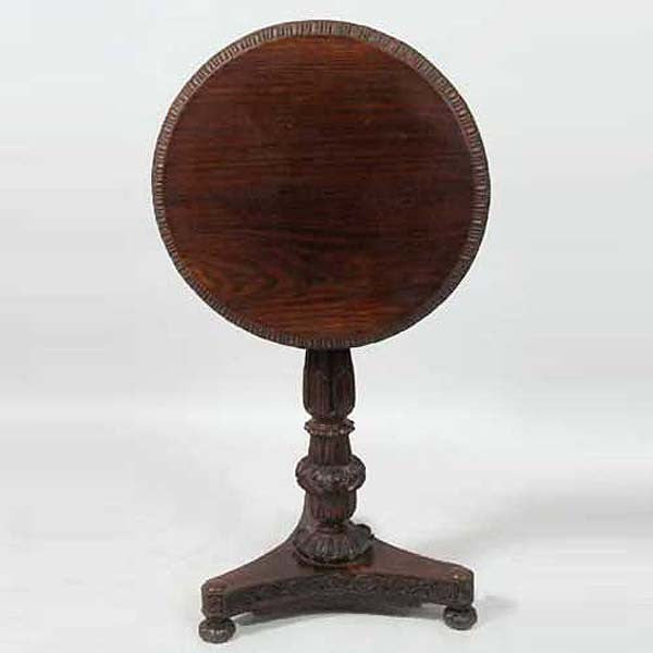 Anglo Indian William IV Rosewood Round Tilt-top Side Table