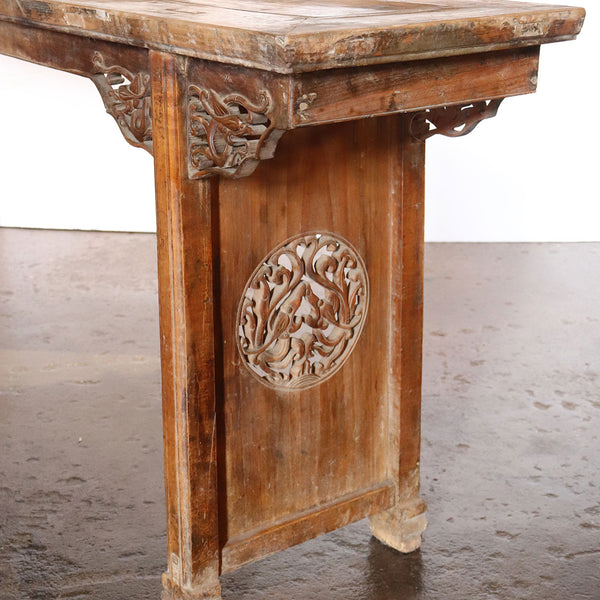 Long Chinese Ming Style Walnut Console Altar Table