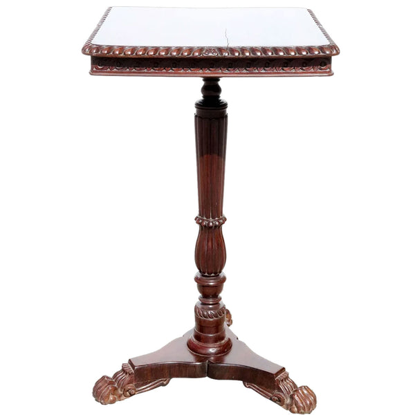Anglo Indian William IV Rosewood Square Side Table