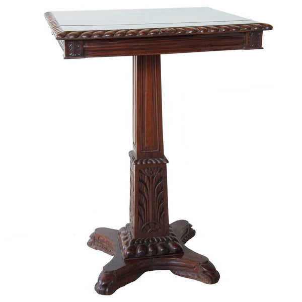 Anglo Indian Rosewood Square Side Table