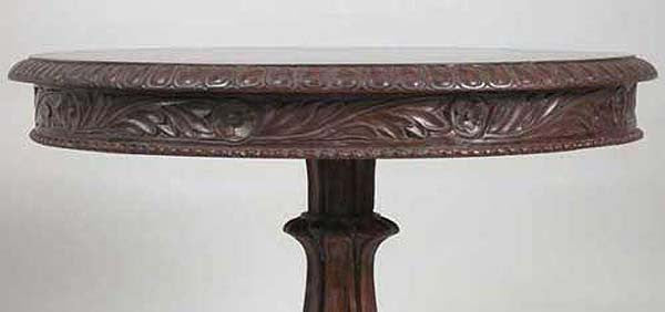 Anglo Indian William IV Style Rosewood Round Pedestal Side Table