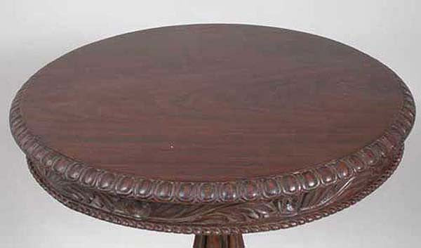 Anglo Indian William IV Style Rosewood Round Side Table