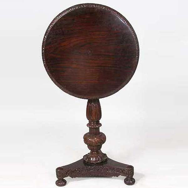 Anglo Indian Rosewood Round Side Table