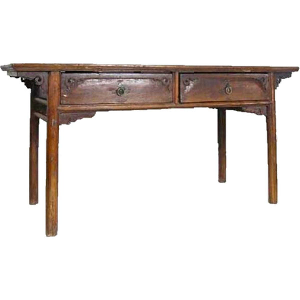 Chinese Shanxi Province Cypress and Pine Drawing Table