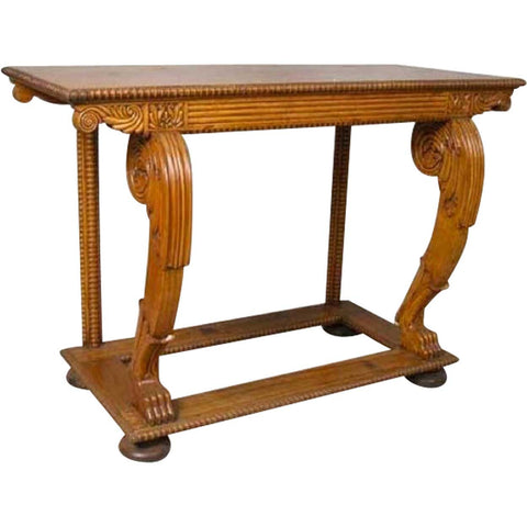 Anglo Indian William IV Period Satinwood Console Table