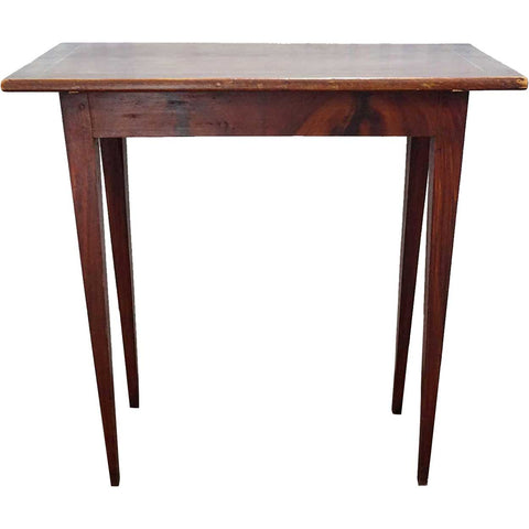 Swedish Gustavian Style Faux Grain Tapered Leg Side Table