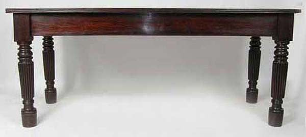 Large Anglo Indian Rosewood Rectangular Dining Table
