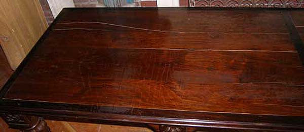 Anglo Indian Gothic Revival Rosewood Long Table