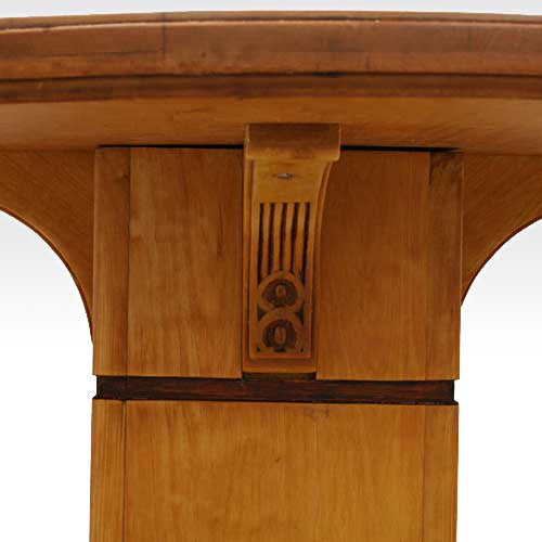 Swedish Arts and Crafts Inlaid Birch Pedestal Table