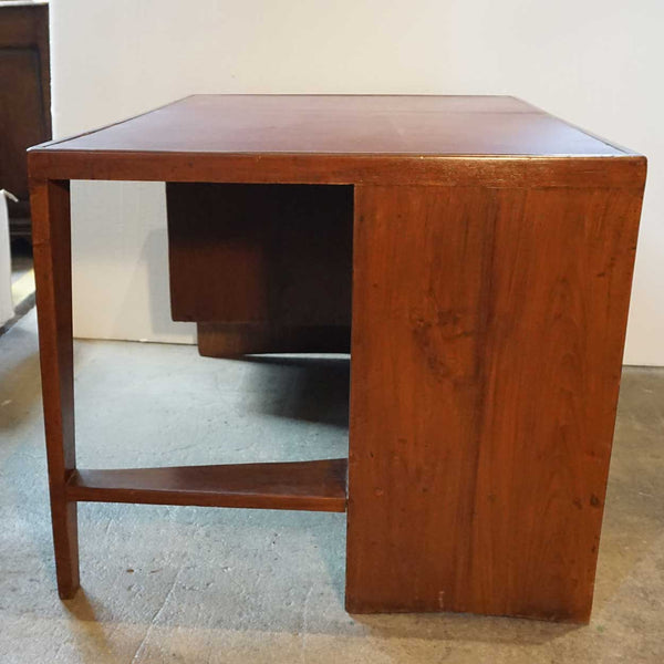 Vintage PIERRE JEANNERET Teak Kneehole Desk from Chandigarh, India