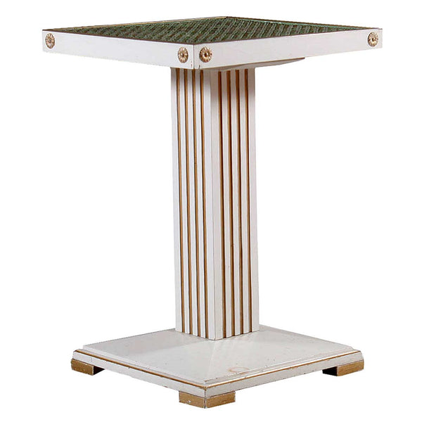 Swedish Gustavian Style Painted Pine Pedestal Side Table