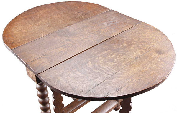 Dutch Oak Gate-Leg Drop-Leaf Table