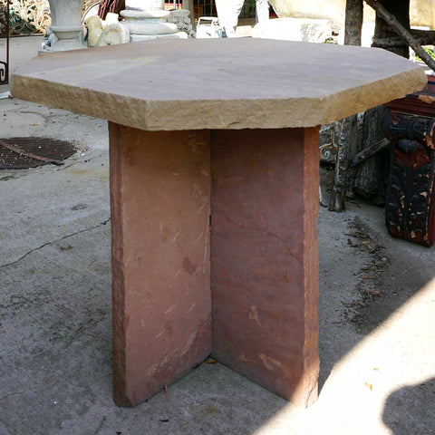 Small American Colorado Flagstone Octagonal Garden Patio Table
