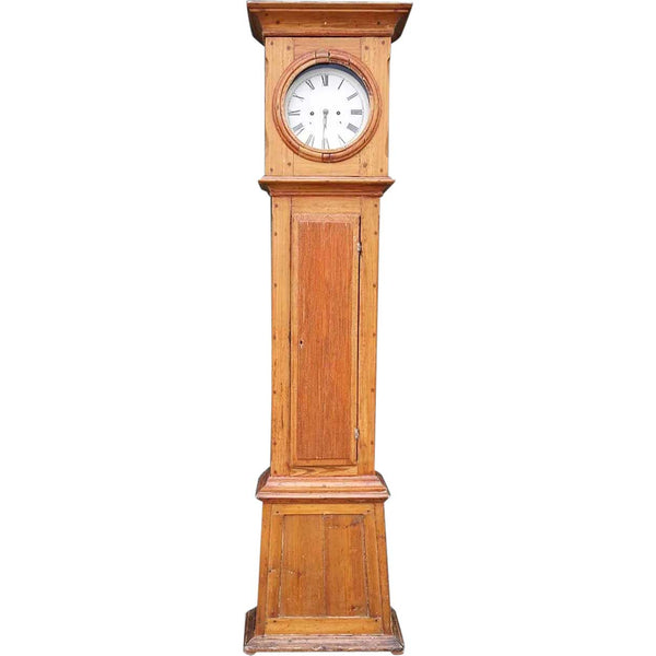 Danish Louis XVI Pine Grandfather Clock
