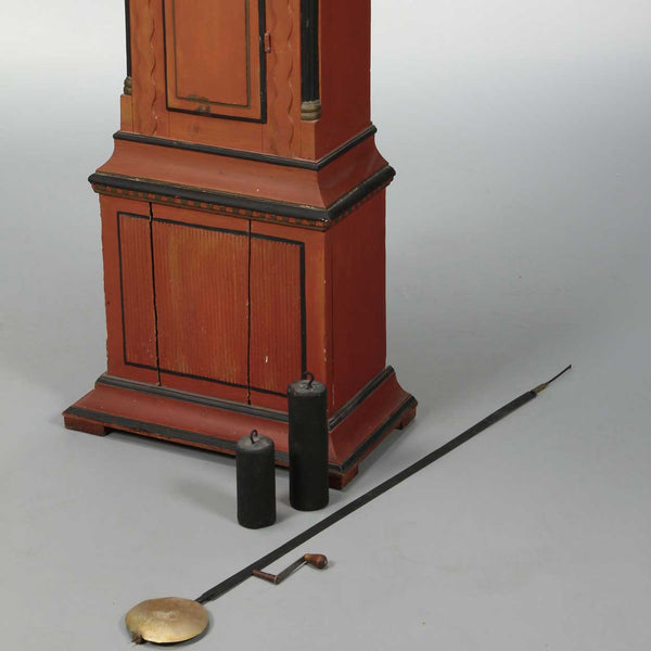 Small Scale Swedish Painted Pine Longcase Clock