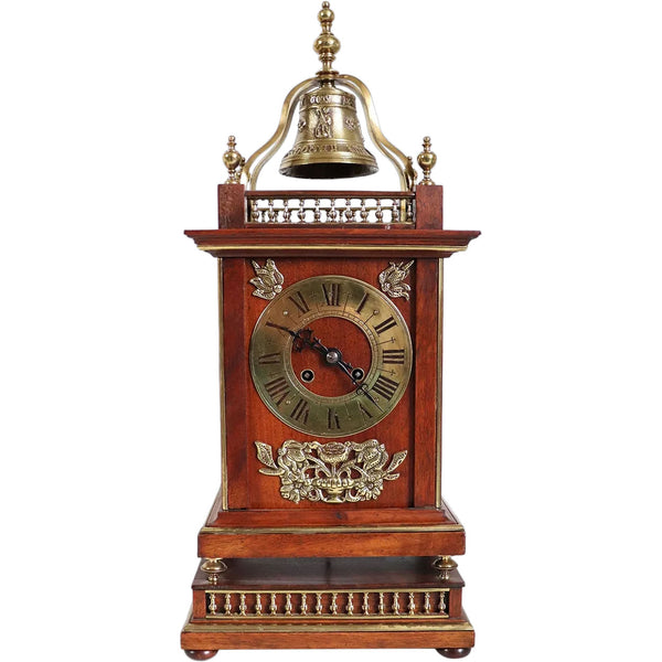 French Parisian Planchon Henri II Revival Walnut Bracket Clock