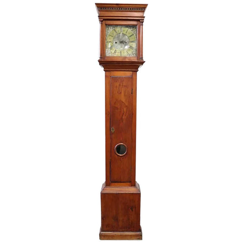 English George II Henry Wattson Blackburn Pine Tall Case Clock